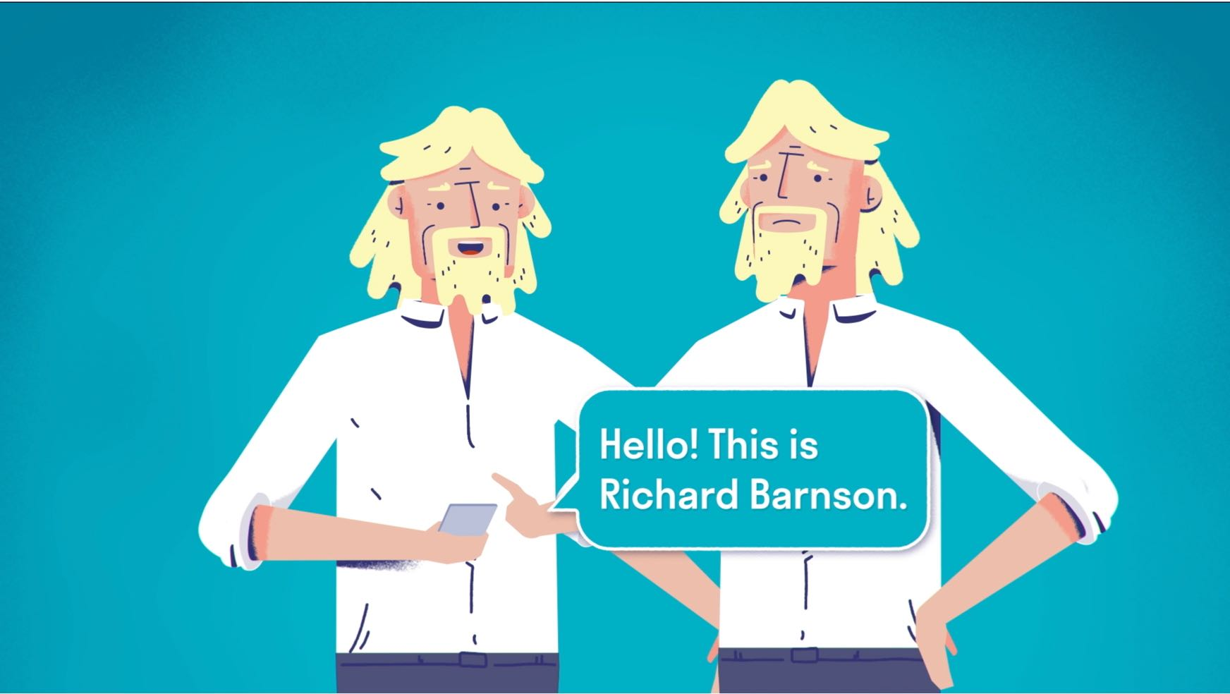 Richard Branson report a scam animation